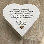 PERSONALISED AUNTIE & UNCLE Aunty Aunt Or ANY NAME Heart Box Pre
